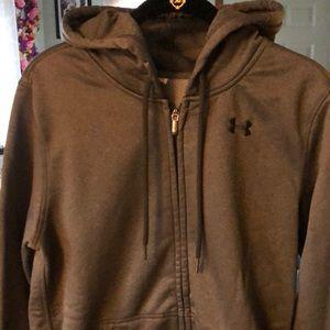 Under Armour Shirts - Men's Small Under Armor zip up fleece lined hoodie